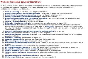 Preventative Services - Women