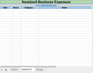 fb expenses sheet2